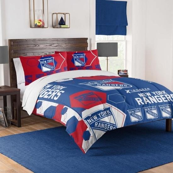 Picture of NHL Hexagon Full/Queen Comforter Set - Rangers