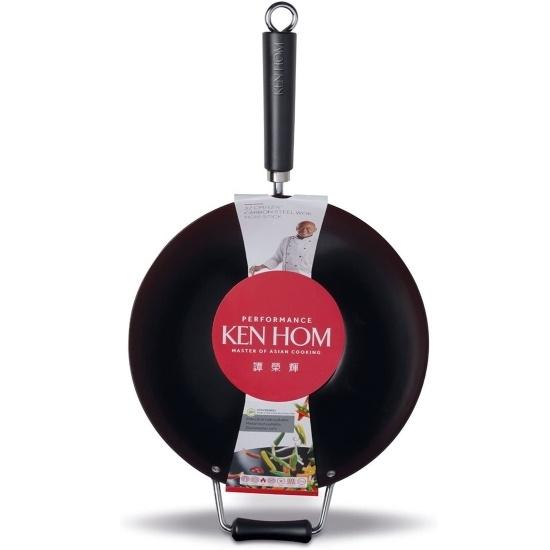 Picture of Ken Hom 12.5'' Nonstick Carbon Steel Wok