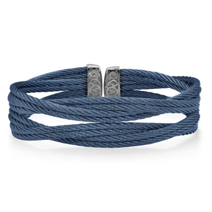 Picture of ALOR Blueberry Cable with Stainless Steel Bracelet