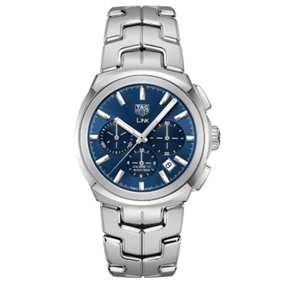 Picture of TAG Heuer Link Calibre 17 Auto Steel Watch with Blue Dial