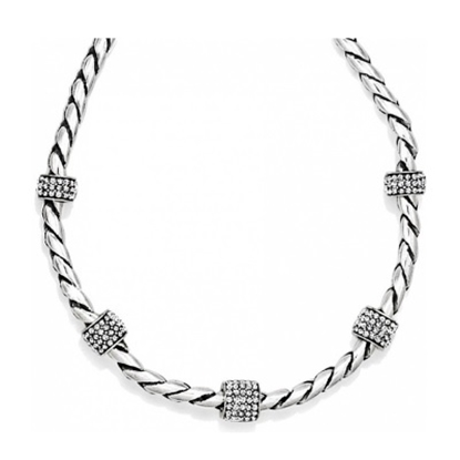 Picture of Brighton Meridian Necklace with Crystals - Silver