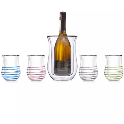 Picture of Wine Enthusiast Double Wall Iceless Chiller & Tumblers Set