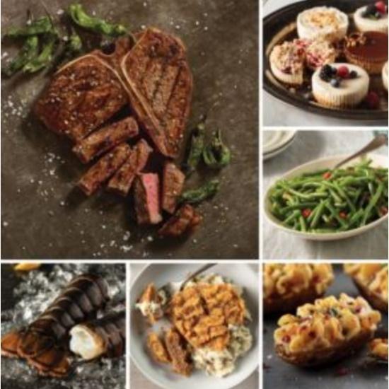 Picture of Omaha Steaks T-Bone Surf & Turf Dinner