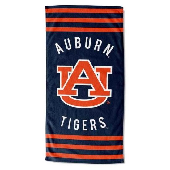 Picture of NCAA Stripes Beach Towel - Auburn