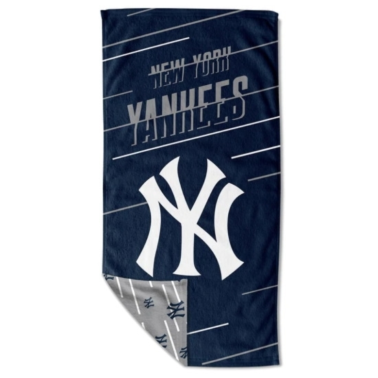 Picture of MLB Splitter Beach Towel with Mesh Bag - NY Yankees