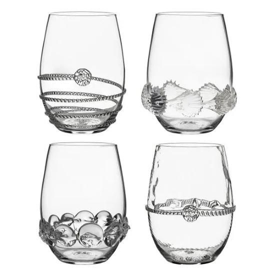 Picture of Juliska Heritage Assorted Stemless Wine Glasses - Set of 4