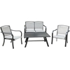 Picture of Hanover Foxhill 4-Piece Commercial-Grade Patio Seating Set