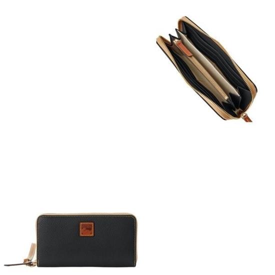 Picture of Dooney & Bourke™ Pebble Grain Large Zip Around Wristlet- Black