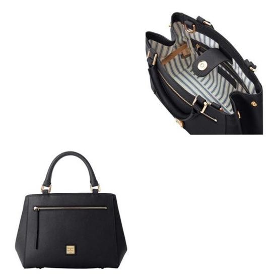 Picture of Dooney & Bourke™ Saffiano Small Zip Satchel- Black