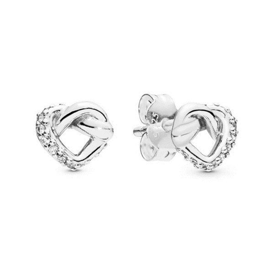 Picture of Pandora® Knotted Heart Stud Earrings