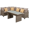 Picture of Hanover Amelia 3-Piece Sectional Deep Seating Set with Chow Table