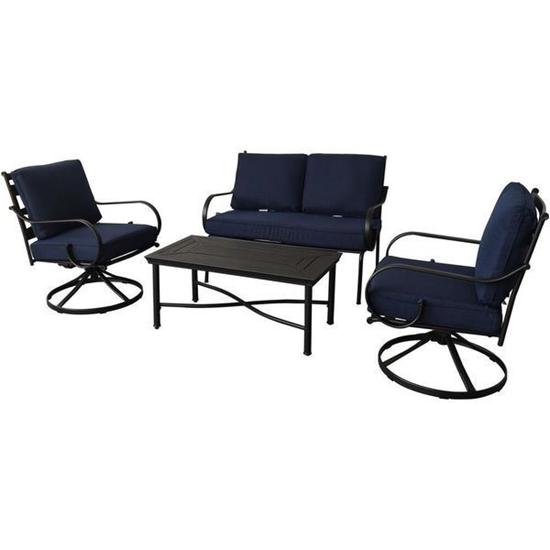 Picture of Hanover Montclair 4-Piece Patio Conversation Set