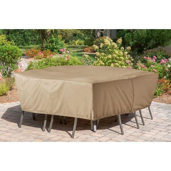 Picture of Hanover Protective Vinyl Cover for Hanover Rectangular Dining Sets