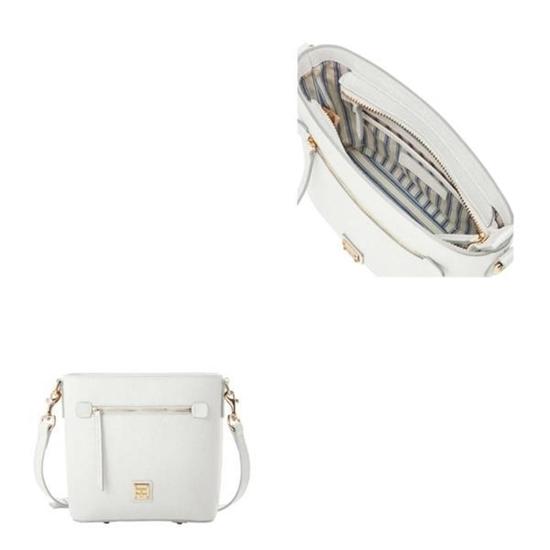 Picture of Dooney & Bourke™ Saffiano Small Zip Crossbody- Off White