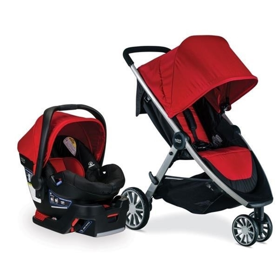 Picture of Britax B-Lively and B-Save 35 Travel System- Cardinal