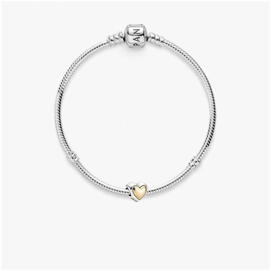 """Picture of Pandora® Heart of Gold Bracelet- Size 7.5"""""""