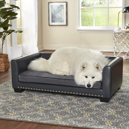 Picture of Enchanted Home Pet Chaz Pet Sofa - Grey