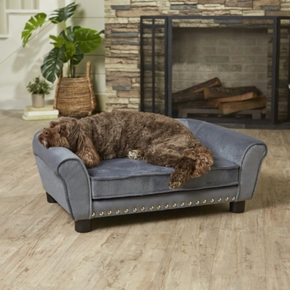 Picture of Enchanted Home Pet Charley Pet Sofa - Grey