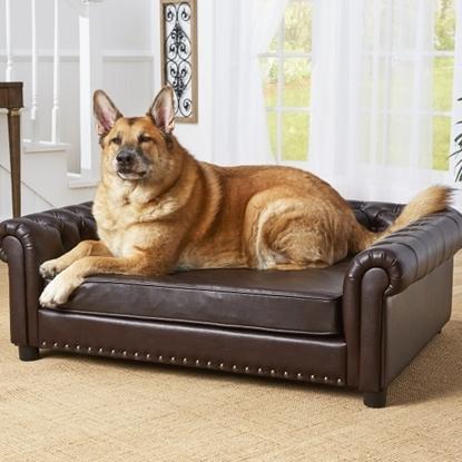 Picture of Enchanted Home Pet Harrison Pet Sofa - Pebble Brown