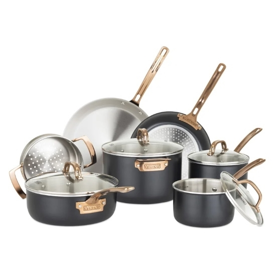 Picture of Viking 3-Ply 11-Piece Black/Copper Cookware Set