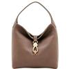 Picture of Dooney & Bourke™ Belvedere Logo Lock Shoulder Bag - Taupe