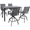 Picture of Hanover Naples 5-Piece Outdoor High-Dining Set - Gray
