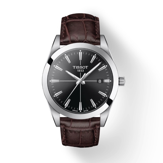 Picture of Tissot Gentleman Quartz - Brown Leather with Black Dial