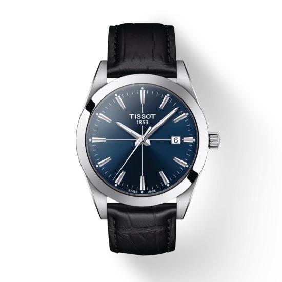 Picture of Tissot Gentleman Quartz - Black Leather with Blue Dial