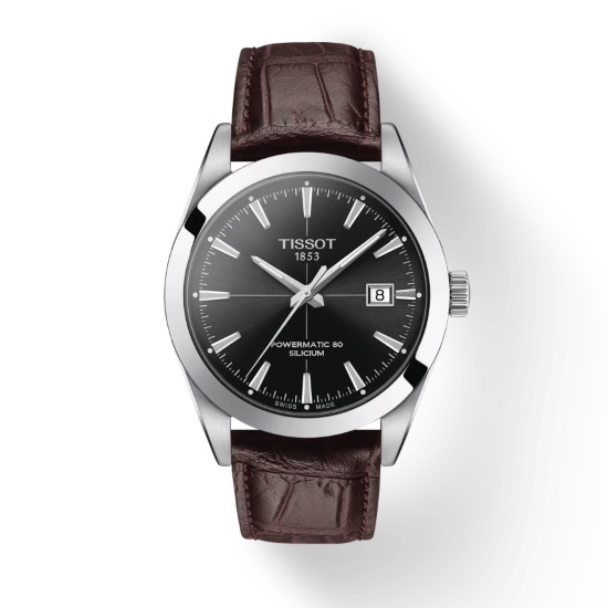 Picture of Tissot Gentleman Powermatic - Brown Leather with Black Dial