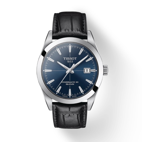 Picture of Tissot Gentleman Powermatic - Black Leather with Blue Dial