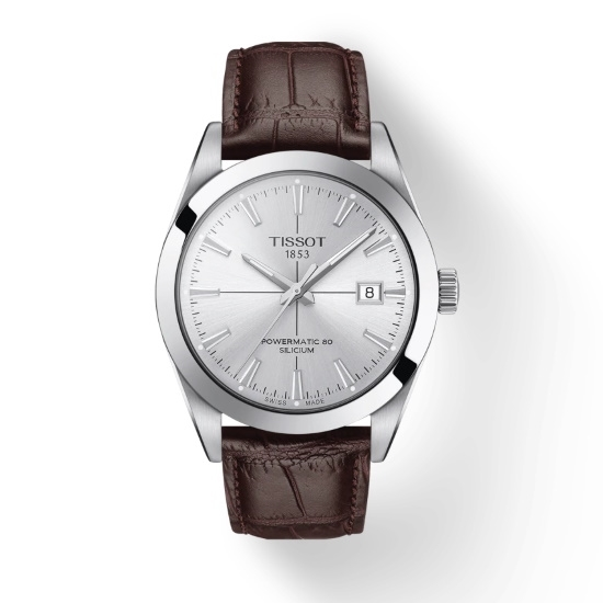Picture of Tissot Gentleman Powermatic - Brown Leather with Silver Dial