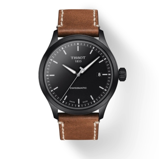 Picture of Tissot Gent XL Swissmatic - Brown Leather with Black Dial
