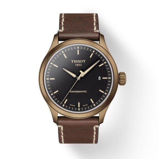 Picture of Tissot Gent XL - Brown Leather with Blackk Dial/Gold Case