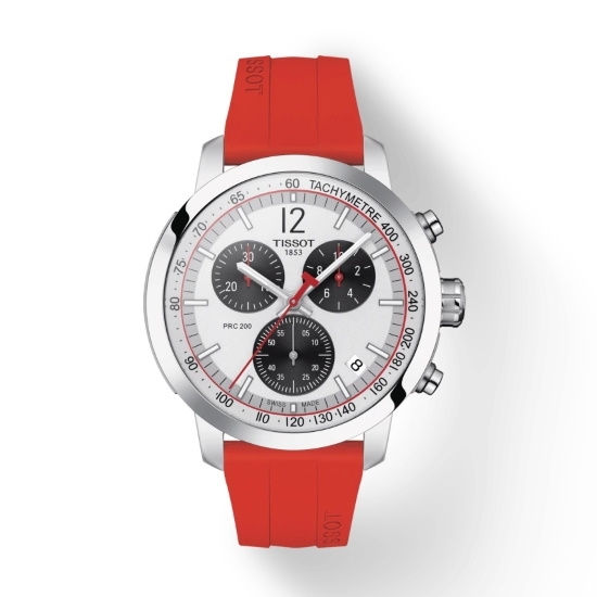 Picture of Tissot PRC 200 Chrono with Red Rubber Strap