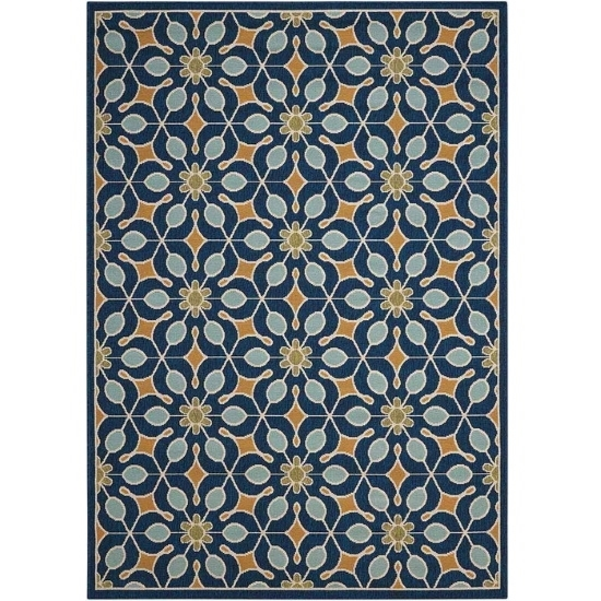 Picture of Nourison Caribbean Navy Rug - 6'7'' x 9'6''