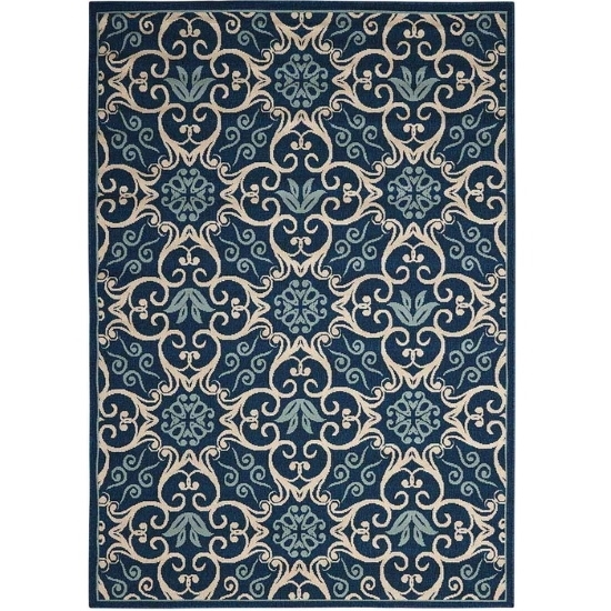 Picture of Nourison Caribbean Navy Rug - 5'3'' x 7'5''
