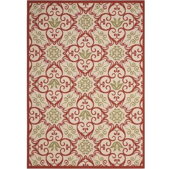 Picture of Nourison Caribbean Ivory/Rust Rug - 5'3'' x 7'5''