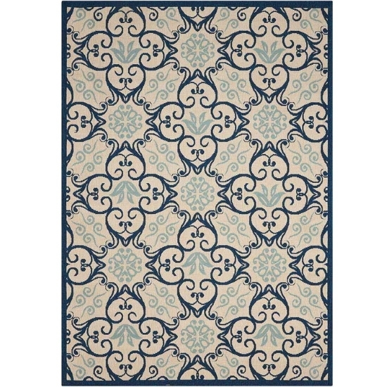 Picture of Nourison Caribbean Ivory/Navy Rug - 3'11'' x 5'11''