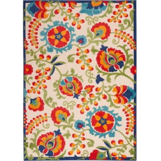 Picture of Nourison Aloha Multicolor Indoor/Outdoor Rug - 5'3'' x 7'5''
