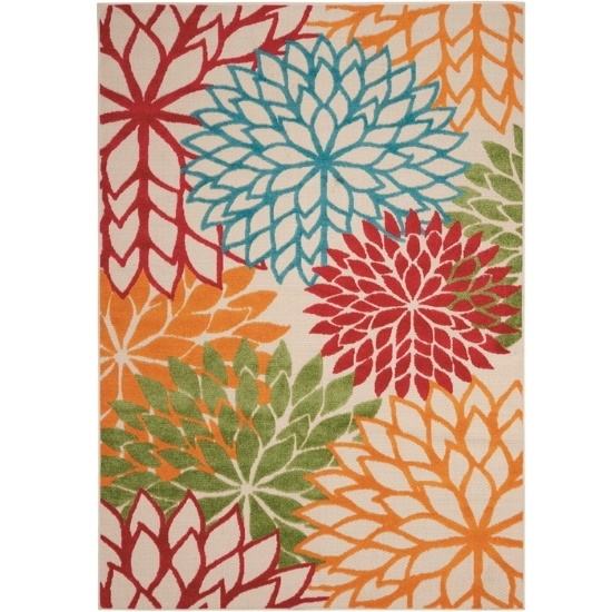 Picture of Nourison Aloha Green Rug - 5'3'' x 7'5''
