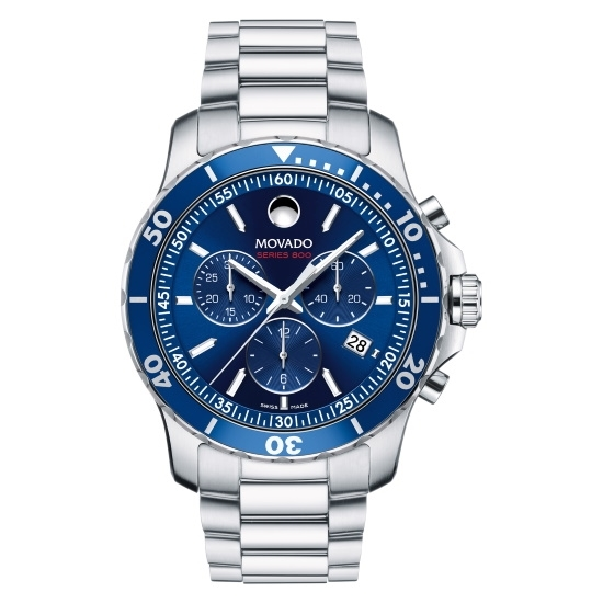Picture of Movado Series 800 Men's Stainless Steel Watch - Blue Dial