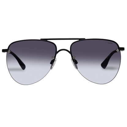 Picture of LeSpecs Prince - Black Frame/Cool Smoke Gradient Lens