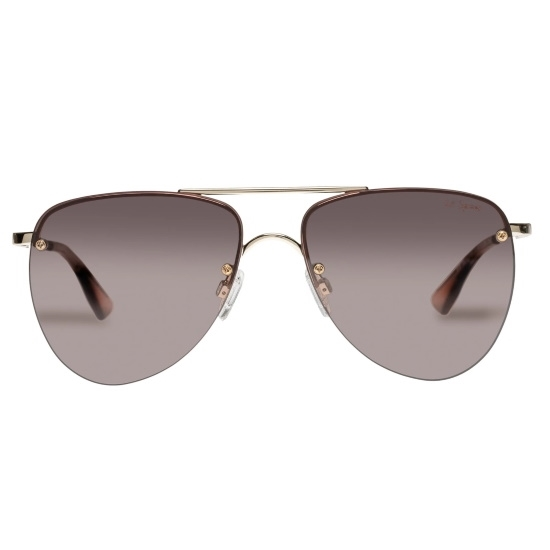 Picture of LeSpecs Prince - Gold Frame/Brown Gradient Flash Lens