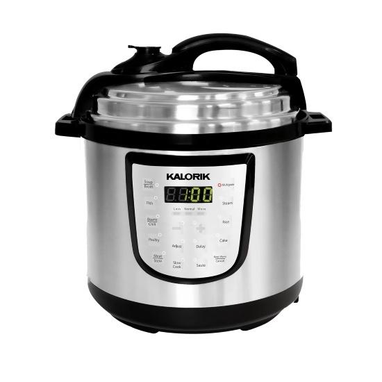 Picture of Kalorik 6-Quart Digital Pressure Cooker - Stainless Steel