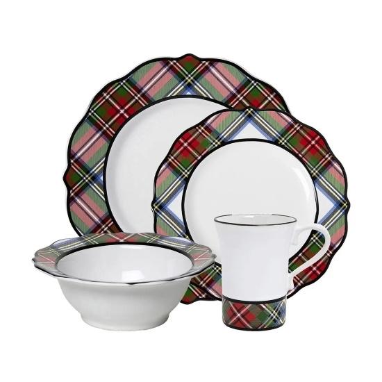 Picture of Juliska Stewart Tartan 16-Piece Dinnerware Set