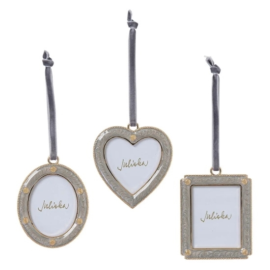 Picture of Juliska Berry & Thread Silver Frame Ornaments - Set of 3