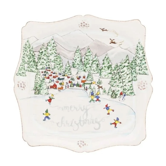 Picture of Juliska Berry & Thread North Pole Merry Christmas Trinket Tray