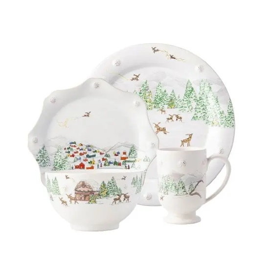 Picture of Juliska Berry & Thread North Pole 16-Piece Dinnerware Set