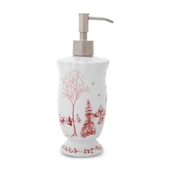 Picture of Juliska Country Estate Winter Frolic Ruby Soap Dispenser