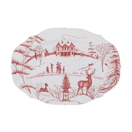 Picture of Juliska Country Estate Winter Frolic Ruby 8'' Tray